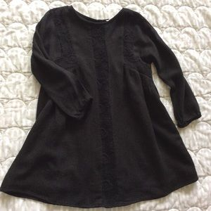 ZARA Girls | Fine wool blend crocheted dress sz XS